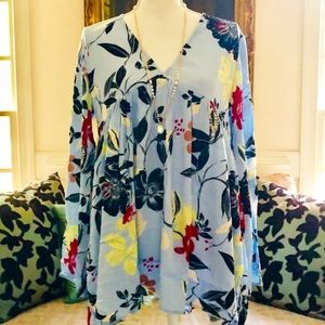 NWT Free People Gorgeous Bella Floral Tunic